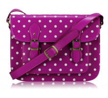 Aktovka Womens Purple Spotty Satchel Shoulder Handbag