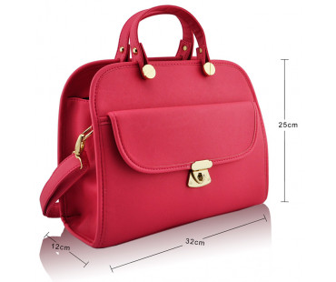 Kabelka Pink Womens Satchel With Long Strap