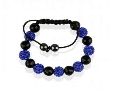 Náramek Blue Shamballa Bracelet Crystal-Disco Ball Friendship Bead