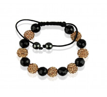 Náramek Champagne Shamballa Bracelet Crystal-Disco Ball Friendship Bead