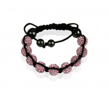 Náramek Pink Shamballa Bracelet Crystal-Disco Ball Friendship Bead
