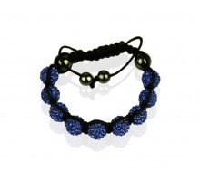 Náramek Royal Blue Shamballa Bracelet Crystal-Disco Ball Friendship Bead