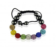 Náramek Multi colour Shamballa Bracelet Crystal-Disco Ball Friendship Bead