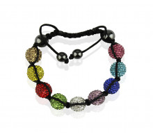 Náremek Multi colour Shamballa Bracelet Crystal-Disco Ball Friendship Bead