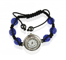 Náramek Royal Blue Crystal Shamballa Watch Bracelets
