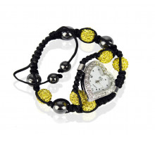 Náramek Yellow Crystal Shamballa Watch Bracelets