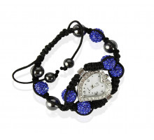 Náramek Blue Crystal Shamballa Watch Bracelets