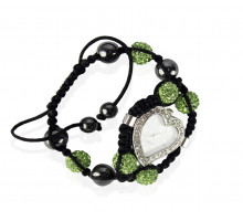Náramek Green Crystal Shamballa Watch Bracelets
