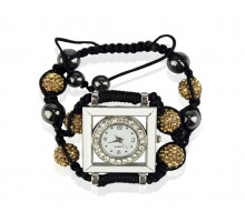 Náramek Coffee Crystal Shamballa Watch Bracelets