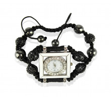 Náramek Black Crystal Shamballa Watch Bracelets
