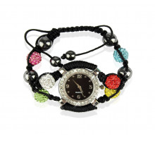 Náramek Multi Colour Crystal Shamballa Watch Bracelets