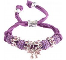 Náramek Purple Crystal Bracelet With Butterfly Charm