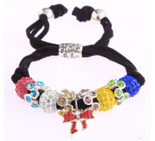 Náramek Multi Colour Crystal Bracelet With Butterfly Charm