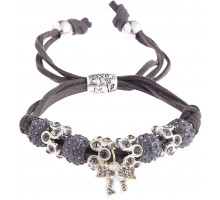 Náramek Grey Crystal Bracelet With Butterfly Charm