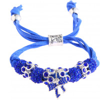 Náramek Blue Crystal Bracelet With Butterfly Charm