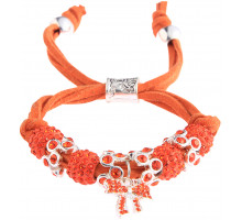 Náramek Orange Crystal Bracelet With Butterfly Charm