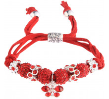 Náramek Red Crystal Bracelet With Dragonfly Charm