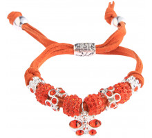 Náramek Orange Crystal Bracelet With Dragonfly Charm