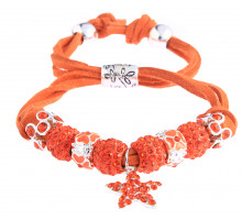 Náramek Orange Crystal Bracelet With Star Charm