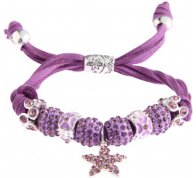 Náramek Purple Crystal Bracelet With Star Charm