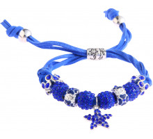 Náramek Blue Crystal Bracelet With Star Charm