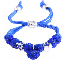 Náramek Blue Crystal Bracelet With Heart Charm