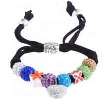Náramek Multi Colour Crystal Bracelet With Heart Charm