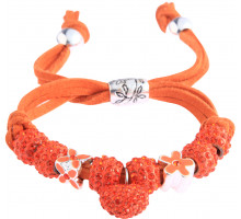 Náramek Orange Crystal Bracelet With Heart Charm