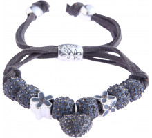 Náramek Grey Crystal Bracelet With Heart Charm