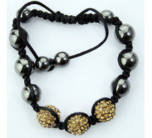 Náramek Coffee Crystal Disco Ball Bead Bracelet