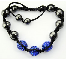 Náramek Blue Crystal Disco Ball Bead Bracelet