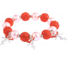 Náramek Orange Crystal Bracelet With Fairy Charms