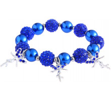 Náramek Blue Crystal Bracelet With Fairy Charms