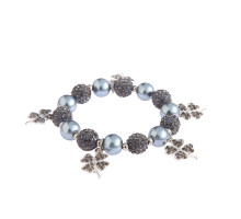 Náramek Grey Crystal Bracelet With Butterfly Charms