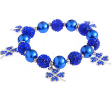 Náramek Blue Crystal Bracelet With Butterfly Charms