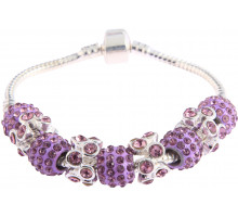Náramek Purple Crystal Bracelet