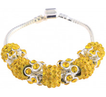 Náramek Lemonade Yellow Crystal Bracelet