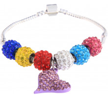 Náramok Multi Colour Crystal Bracelet With Heart Charm