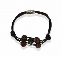Náramky Coffee Crystal Bracelet With Pearl Charm