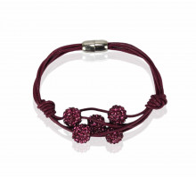 Náramek Purple Crystal Bracelet With Pearl Charm