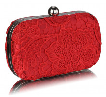 Psaníčko Classy Red Ladies Lace Evening Clutch Bag