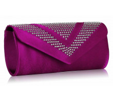 Psaníčko Purple Diamante Evening Clutch Bag