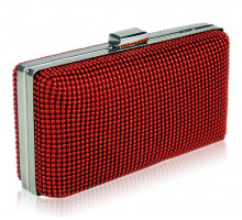 Kabelka Red Hard Case Evening Clutch