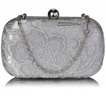 Psaníčko Classy Silver Ladies Lace Evening Clutch Bag