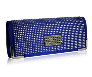 Psaníčko Blue Evening Clutch With Crystal Decoration - modré