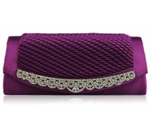 Psaníčko- Gorgeous Purple Crystal Clutch Evening Bag