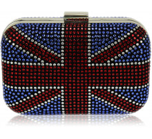 Psaníčko Women's Teal Union Jack Box Clutch
