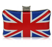 Psaníčko Union Jack Clutch Bag With Crystal-Encrusted  Clasp