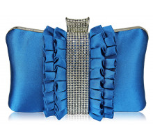 Psaníčko - Gorgeous Teal Crystal Strip Clutch Evening Bag