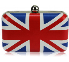 Psaníčko - Union Jack Clutch Bag With Crystal-Encrusted Clasp